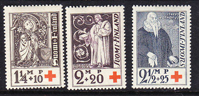 Finland Red Cross 1933 Complete set 296/98 Mint