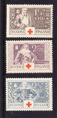 Finland Red Cross 1934 Complete set 299/301 Mint