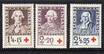 Finland Red Cross 1935 Complete set 303/5 MLH