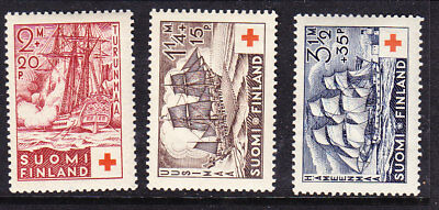 Finland Red Cross 1937 Complete  set 312/14 MLH