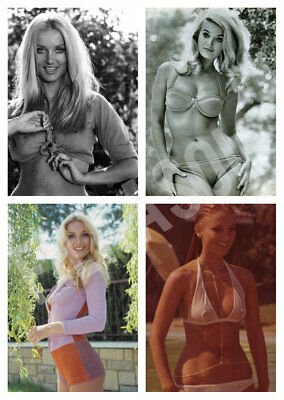 BARBARA BOUCHET PACK 4 actress PIN UP PHOTO postcard