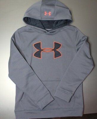 Boys Under Armour Big Logo Storm Hoodie New Size M New With Tags