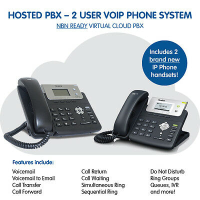 2 User Business VoIP Phone System - HOSTED PBX - NBN READY