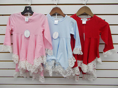 6X//7 Toddler /& Girls Just Blanks Pink Monogramable Dress Size 12Mth