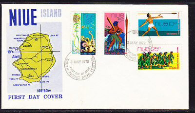 Niue 1972 South Pacific Festival First Day Cover Unaddressed