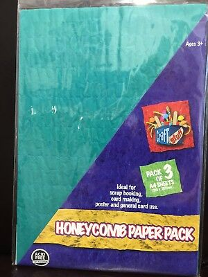 New - Honeycomb Paper Pack - 3 Sheets - A4 Size