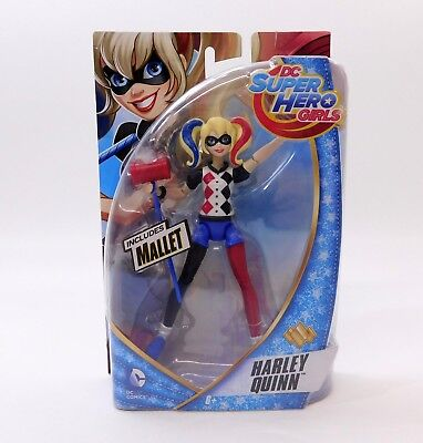 NEW DC Super Hero Girls 6-inch Action Figure - Harley Quinn includes Mallet
