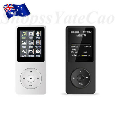 "1.8"" LCD MP3 MP4 Music Video Media Player Radio FM TF Card Support 128GB"