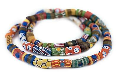 Traditional Medley Krobo Beads Long Strand 11mm Ghana African Multicolor Mixed