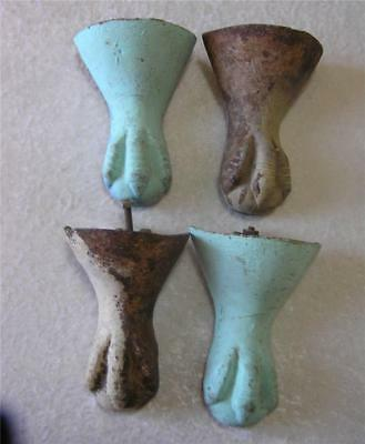 4 ANTIQUE CAST Iron Eagle Ball & Claw Bathtub Feet - $79.00 | PicClick