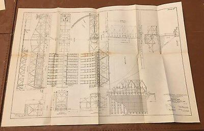 1910 Panama Canal Diagram Emergency Dams for Gatun & Pedro Miguel Locks