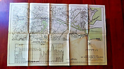 1913 Panama Canal Map Escavation Pedro Miguel Miraflores Locksite Balboa Dump