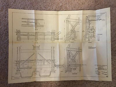 1910 Panama Canal Sketch Diagram Emergency Dams for Gatun & Pedro Miguel Locks