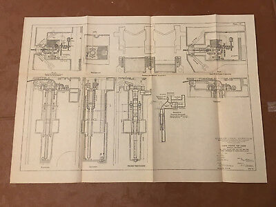 1913 Panama Canal Diagram Chain Fenderl Pits except 852-853-854 855 Cuebra Zone