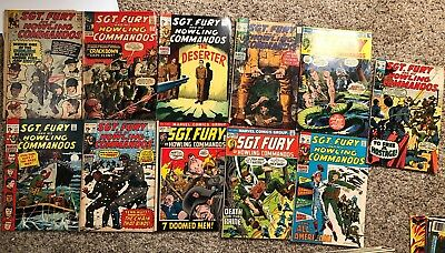 12 SGT. Fury And His Howling Commandos Comic Lot Vintage 60s And 70s AWESOME ***