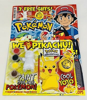 pokemon Official Magazine #11 With 3 FREE GIFTS! (BRAND NEW)
