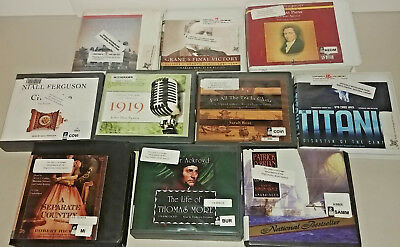 History Fic/non Fiction Audio Books Lot of 10 CD FREE SHIPPING Unabridged A-25