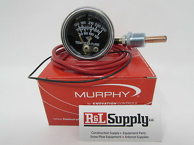 4Ft Murphy 20T-250-4-1/2 250 Degree Temperature Gauge For Equipment & Chippers