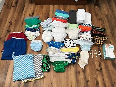 Bumgenius, nickis, and imagine cloth pocket diaper with accessories