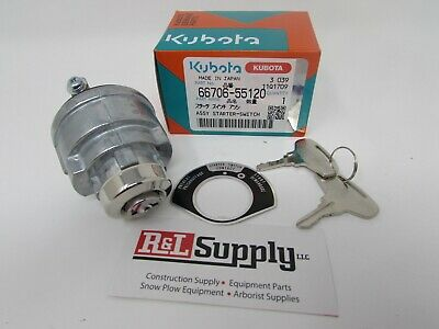 1 New Genuine Kubota Ignition Key Switch W/ Keys Part # 66706-55120