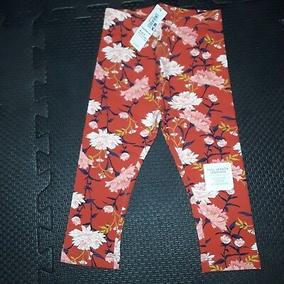 New With Price Tag Old Navy Girls Red Flower Legging Size 5T 1 Piece B-1Rb