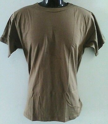 Tan Aus Military Spec Large T-Shirts 100% Cotton/crew Neck/inset Sleeves