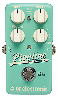 New TC Electronic Pipeline Tap Tremolo Guitar Effects Pedal!