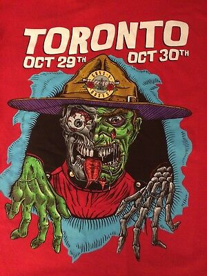 Guns N Roses Air Canada Center  Toronto  Mountie Shirt 10/29 2X Awesome Official