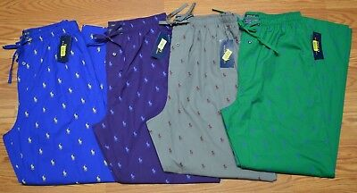 Polo Ralph Lauren Men S Pajamas Lounge Pants Sleepwear Pony All Over