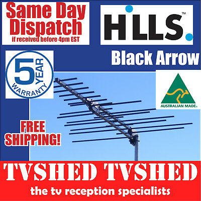 Hills Black Arrow Tru-Band Metro High Gain Digital TV Antenna