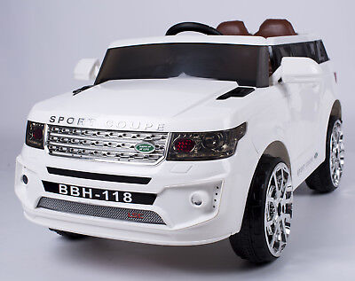 Kids LAND ROVER SUV  Ride on Truck Car R/c Remote Control, LED Lights on Toy