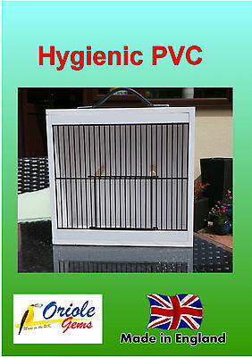 Small Bird Carrying Cage in Hygienic PVC with handle