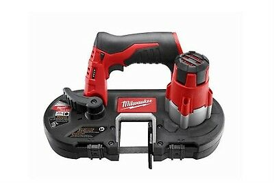 12-Volt Lithium-Ion Cordless Sub-Compact Portable Band Saw Tool-Only Keyless Red