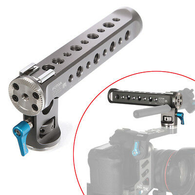 """FOTGA DP500 III Top Handle Rig Cold Shoe with 1/4"""" 3/8"""" Extender for Camera Mic"""