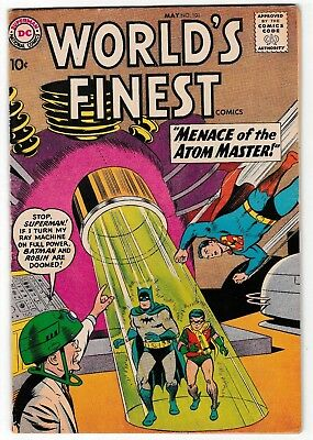 WORLD'S FINEST #101 (FN-) Superman! Batman! Silver-Age Issue DC 10 cent Cover