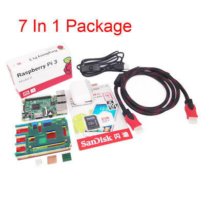 Raspberry Pi 3 Model B 1GB RAM Quad Core 1.2GHz CPU 7 In 1 Starter Kit - UK MADE