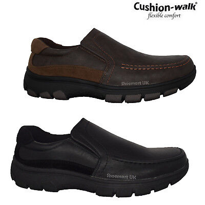 Mens New Cushion Walk Slip On Designer Casual Walking Driving Boat Shoes Sizes