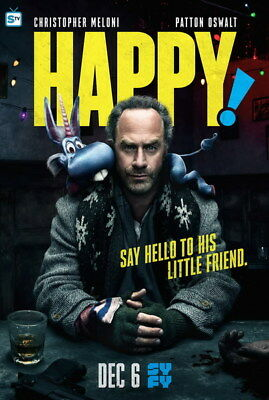 "001 Happy - Christopher Meloni Comedy Crime Fantasy USA TV Show 24""x35"" Poster"