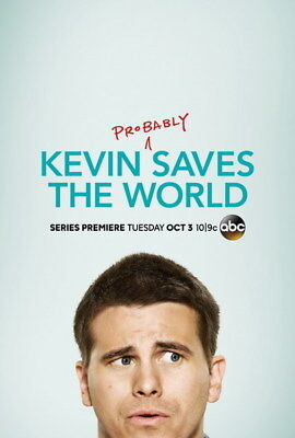 "002 Kevin Saves the World - Jason Ritter Comedy USA TV Show 24""x35"" Poster"