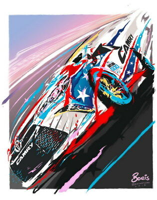 "073 Car Race - NASCAR USA Modified Cars 24""x30"" Poster"