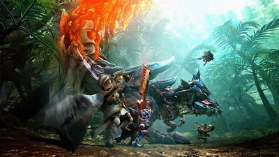 """006 Monster Hunter World - Moster Fight Game 42""""x24"""" Poster"""
