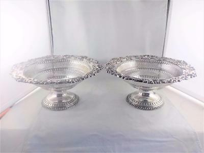 Classic quality silverplated pierced & scrolled decoration dishes