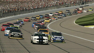 "067 Car Race - NASCAR USA Modified Cars 24""x14"" Poster"