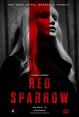 "007 RED SPARROW - Jennifer Lawrence Thriller 2018 USA Movie 14""x20"" Poster"