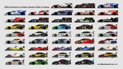 "036 Car Race - Le Mans 24 Hours Race USA Modified Cars 24""x14"" Poster"