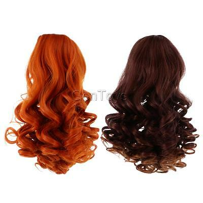 2pcs Doll Wigs Heat Resistant Curly Hair for 18'' American Girl Dolls #5+#6
