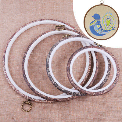 Imitation Wood Hand Embroidery Cross Stitch Ring Hoop Frames Sewing Tools