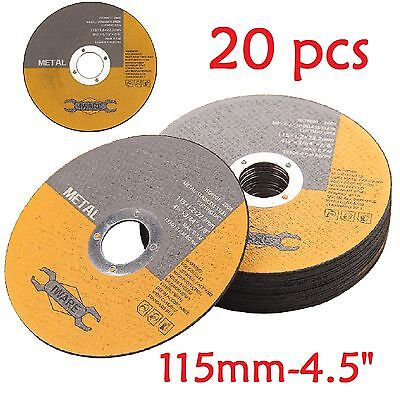"20X 115Mm 4.5"" Metal Cutting Blade Disc Stainless Steel Angle Grinder Thin 1.2Mm"