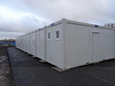 Portable Building New 10 Bay 16 Room Portable Sleeper Unit 20' x 80'/25 x 6 mtrs