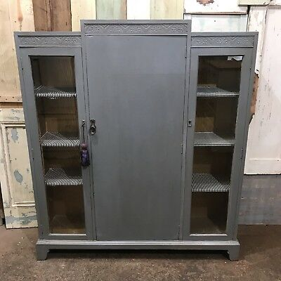Vintage Shelving Cupboard Upcycled Shabby Chic Rustic Sideboard Cabinet Dresser